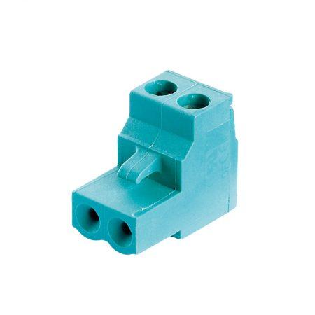 Steckklemme 2 – polig / 90° Winkel